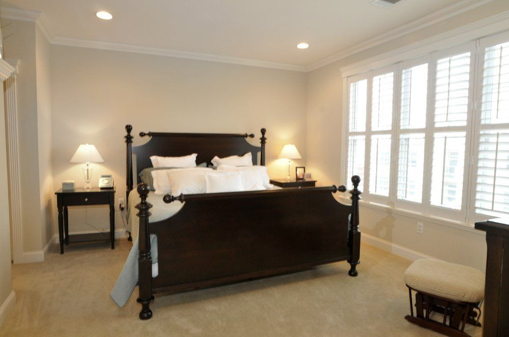 Love These Shutters Master Bedroom Lighting Bedroom Lighting Design Modern Master Bedroom