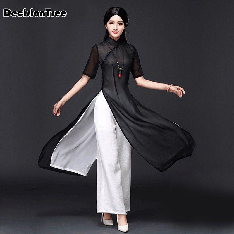 2bd17c85c Cheap ao dai, Buy Quality ao dai vietnam directly from China vietnam  traditional Suppliers: 2019 new vietnam aodai chinese traditional dress  chinese dress ...