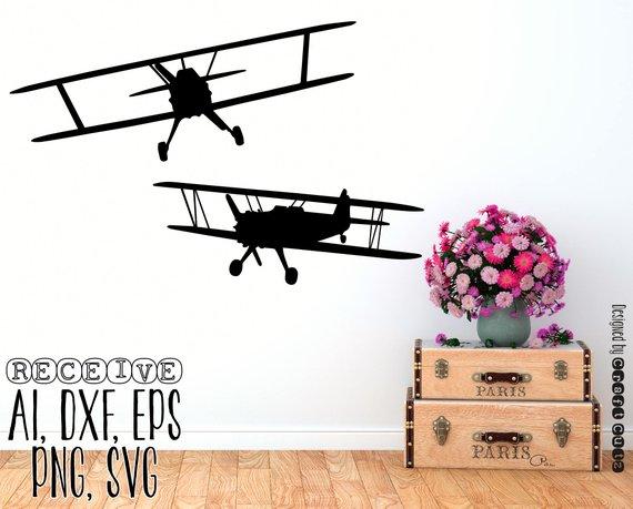 Vintage Airplane For Vinyl Cutting