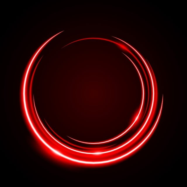 Circle Neon Red Light Red Abstract Frame Halo Vector Illuminated Art Background Banner Png And Vector With Transparent Background For Free Download Neon Light Red Neon Wallpaper