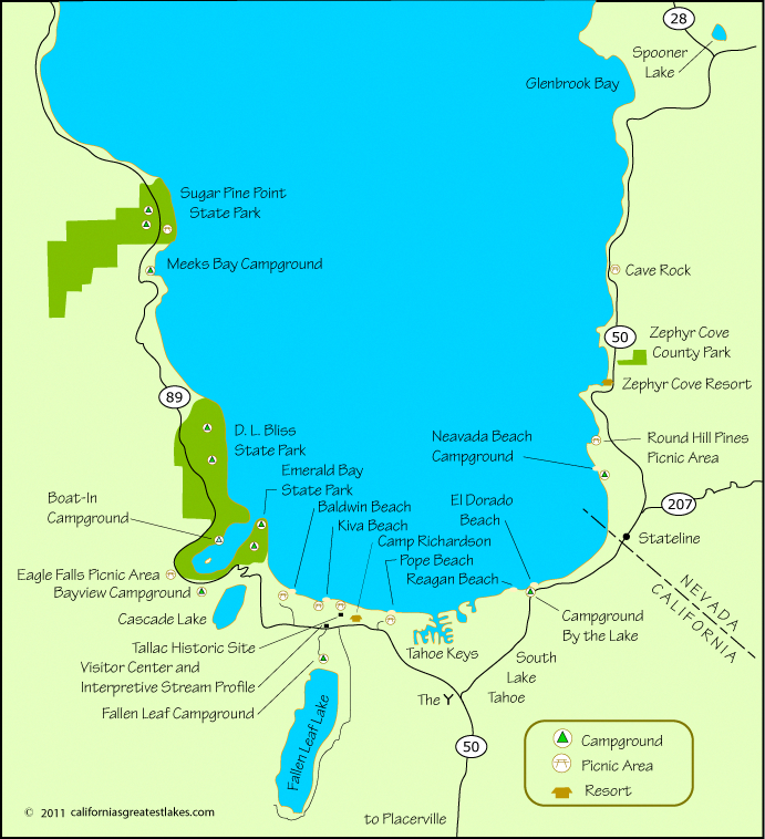 Campgrounds at South Lake Tahoe # ...