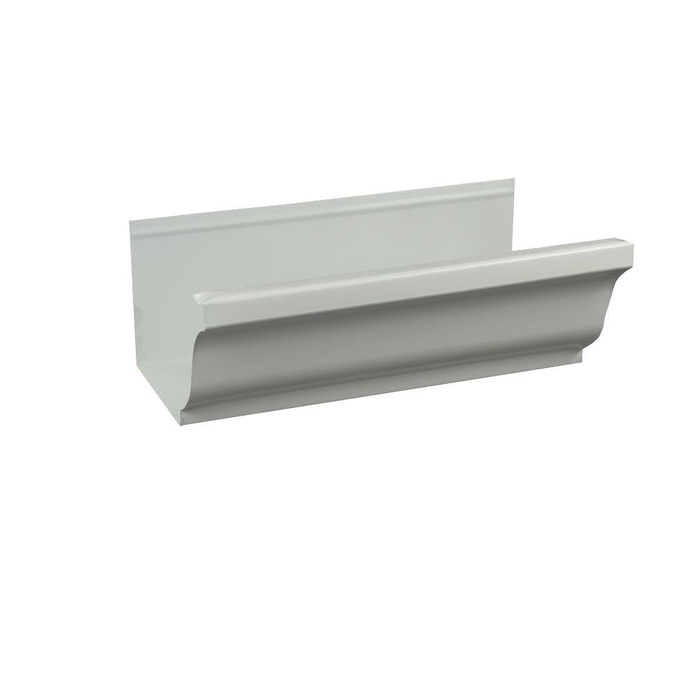 Spectra Metals 5 In X 8 Ft K Style Low Gloss White Aluminum Gutter Diy Gutters How To Install Gutters Seamless Gutters