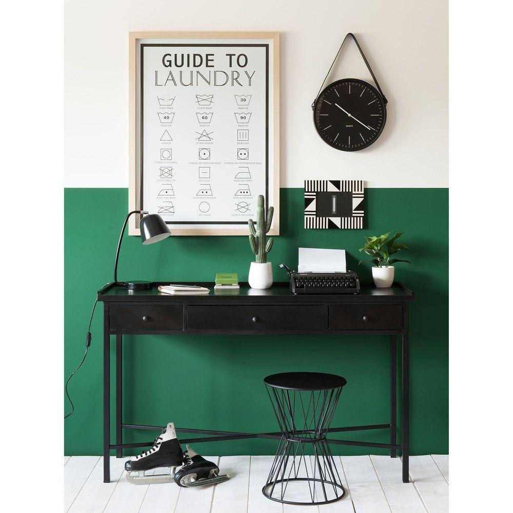 Metal Industrial Console Table In Black W 130cm Maisons Du Monde