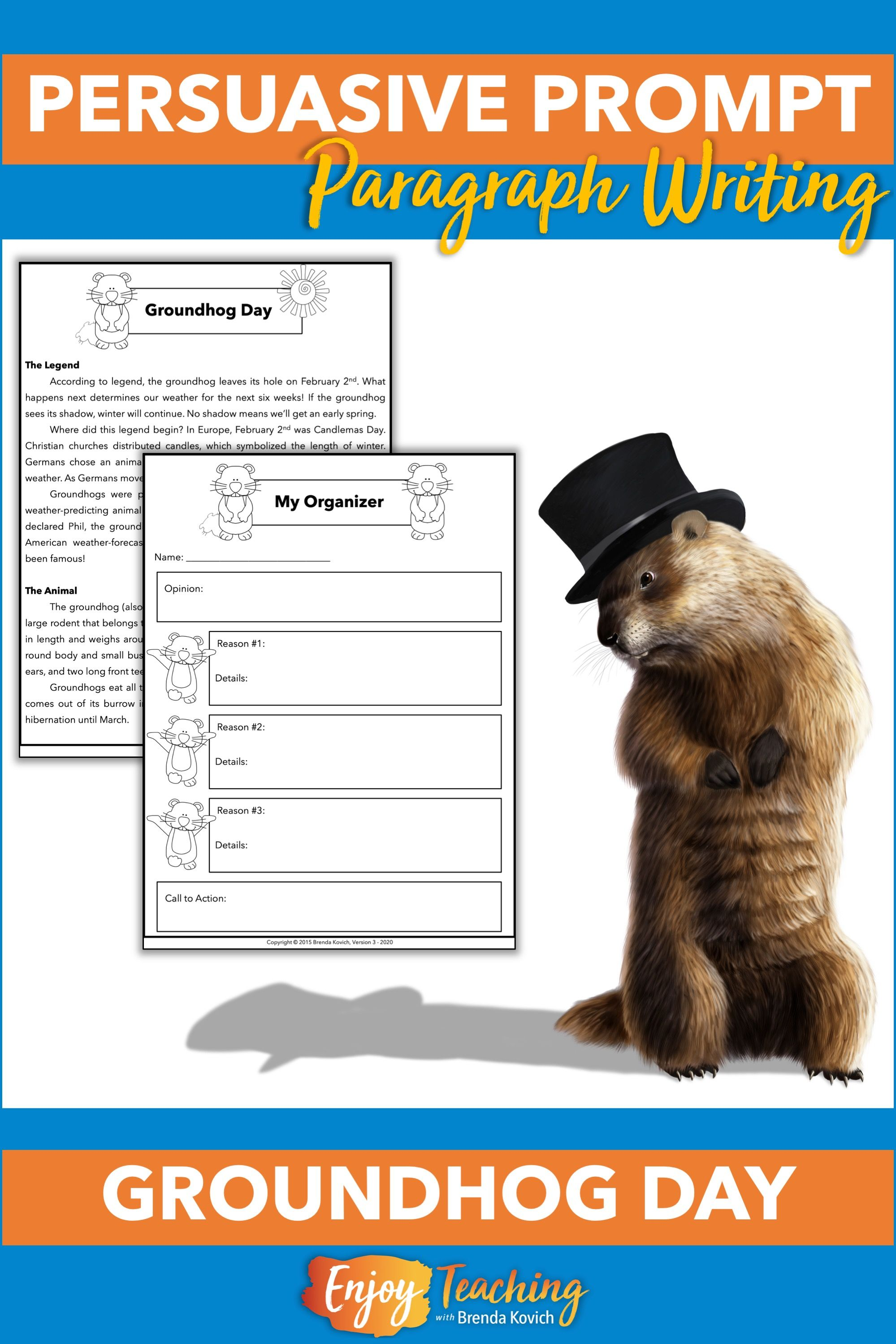 Groundhog Day Writing Activity Persuasive Paragraph Argumentative Writing In 2021 Writing Activities Groundhog Day Activities Groundhog Day [ 2999 x 1999 Pixel ]