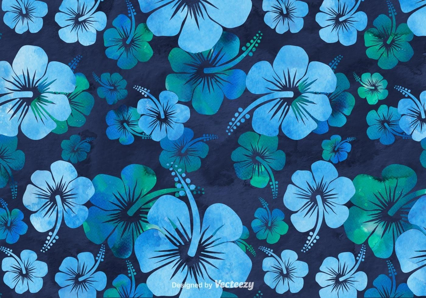 Free Hibiscus Watercolor Background Watercolor Background Blue Flowers Background Hawaiian Background