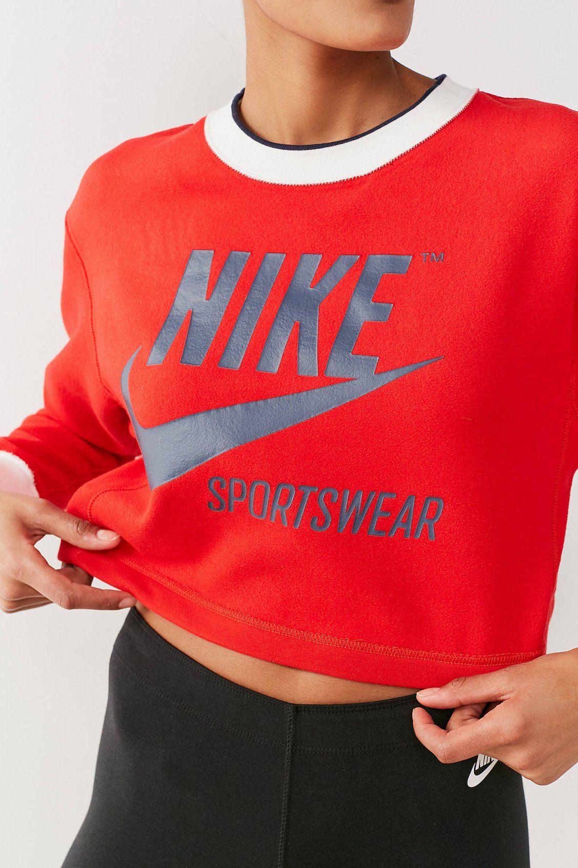Predownload: Nike Sportswear Reversible Cropped Sweatshirt Sportswear Crop Sweatshirt Sweatshirts [ 1692 x 1128 Pixel ]