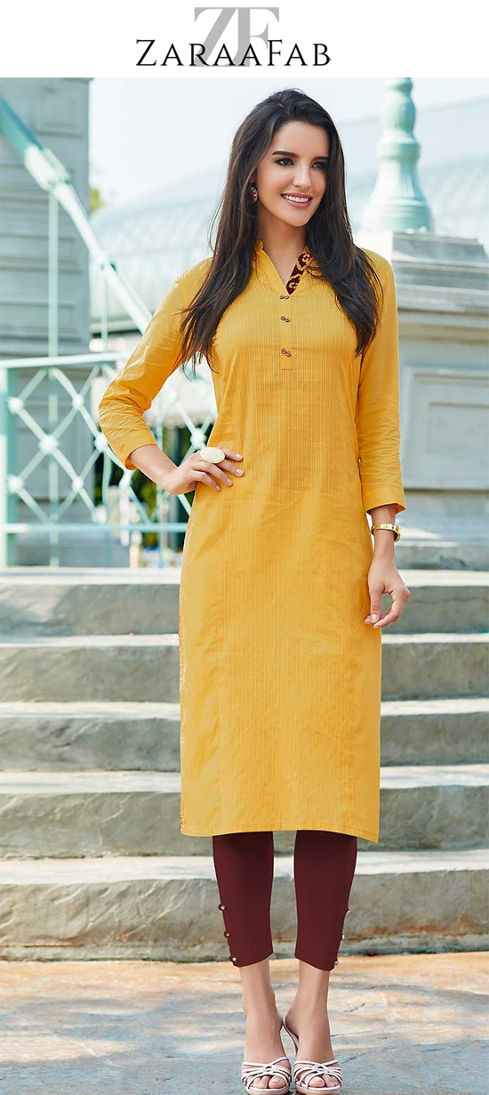 7017a4b6c Discover a range of musturd yellow colored long kurtis online shopping uk.  Choose from mustard and light yellow colours. Browse wide range of yellow  kurtis ...