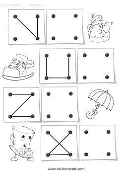 Simetri Tamamlama Sayfası Dikkat çalışmaları Pinterest Grade R