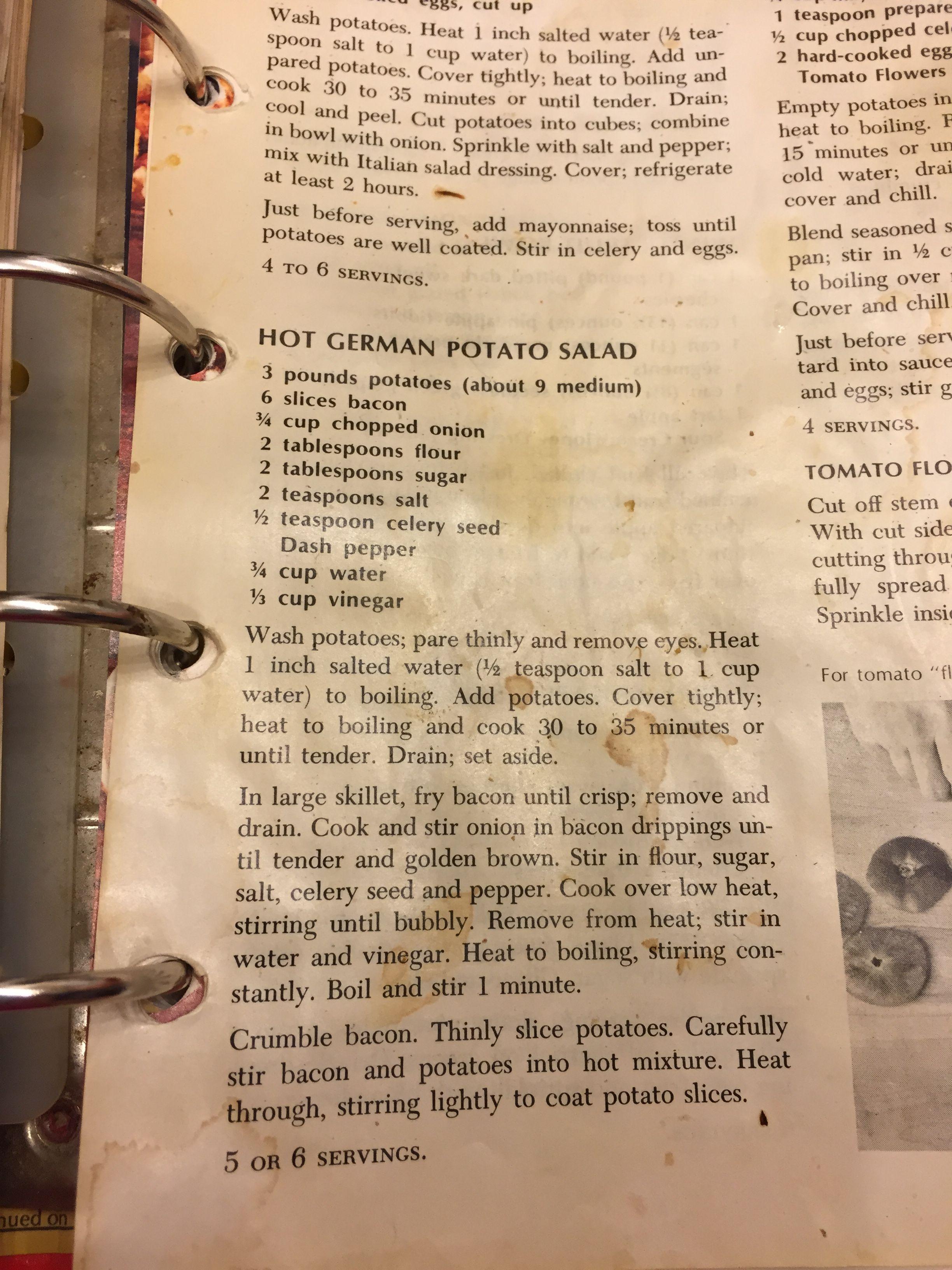 Vintage Betty Crocker Potato Salad Recipe