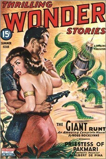 thrilling wonder stories VINTAGE COMICS POSTER mystery adventure 24X36 HOT