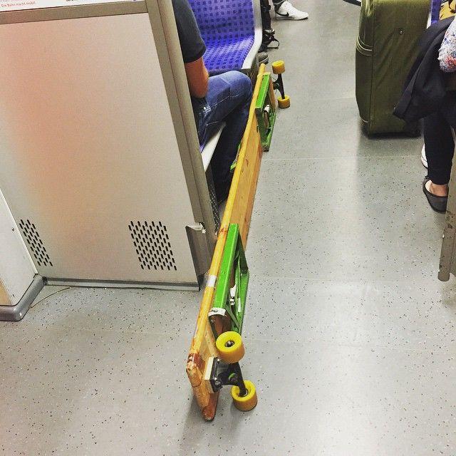 #longboard in der #s-Bahn. The Bavarian Style