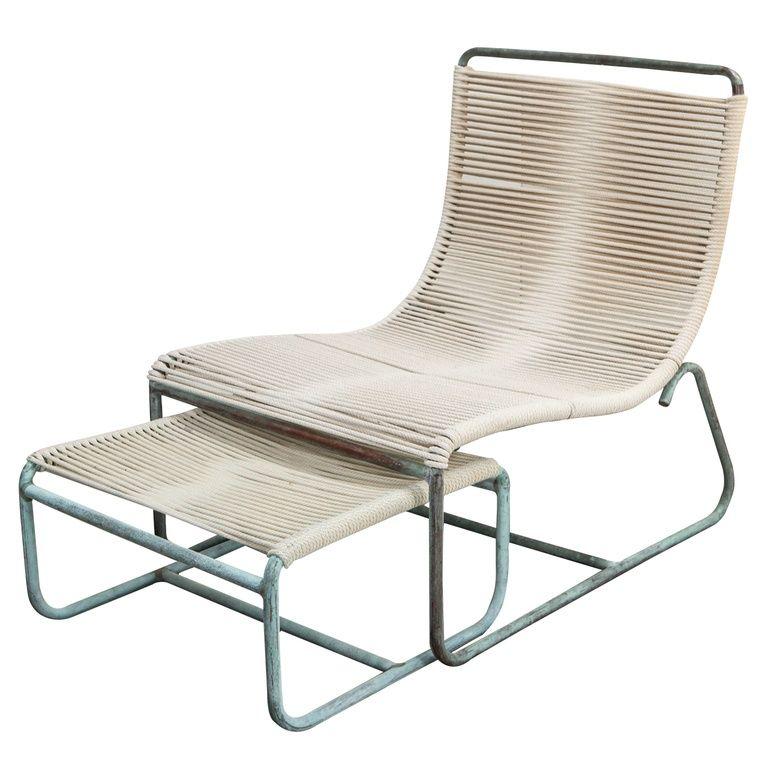 Walter Lamb Lounge Chair and Ottoman