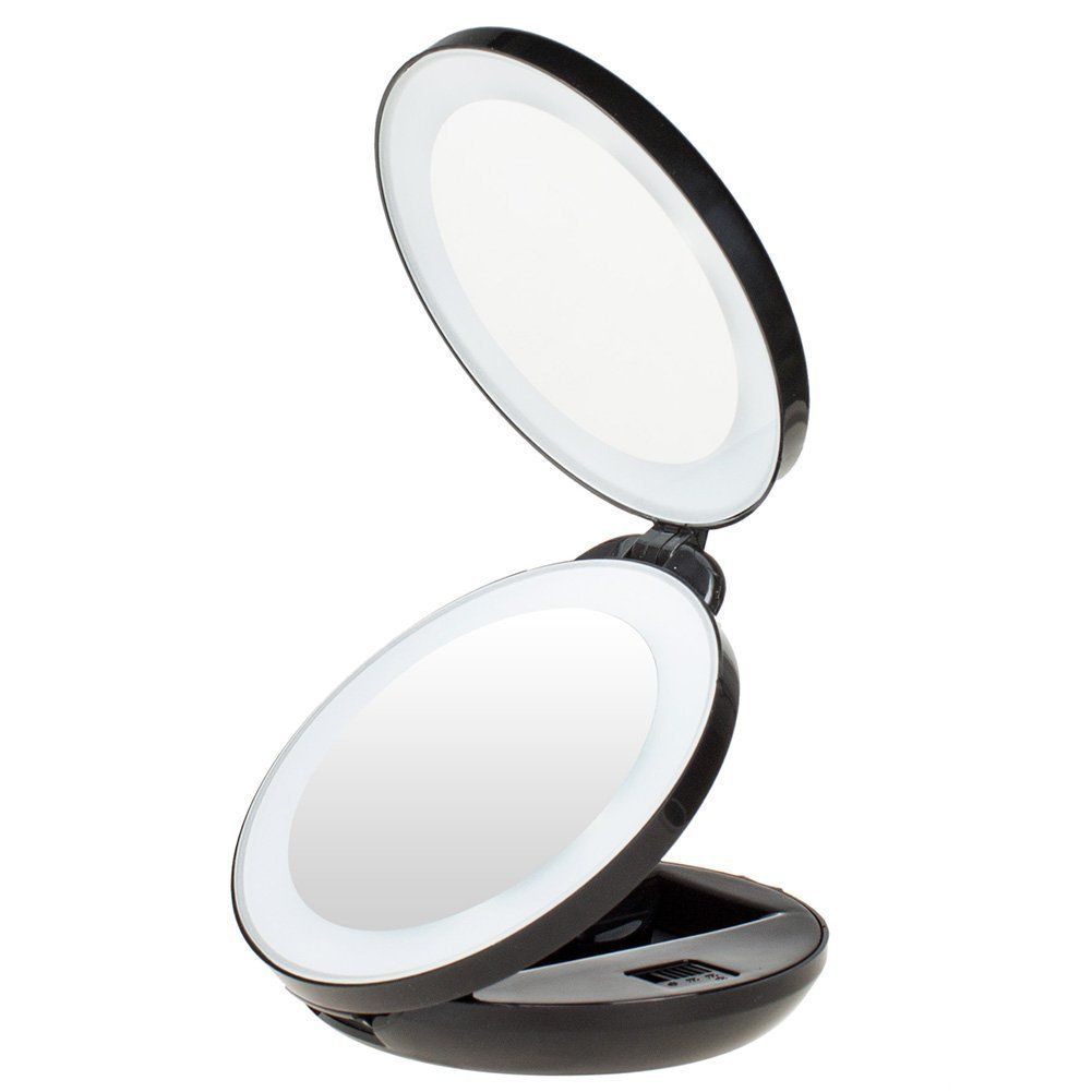 Kedsum 1x 10x Double Sided Led Lighted Makeup Mirror Compact