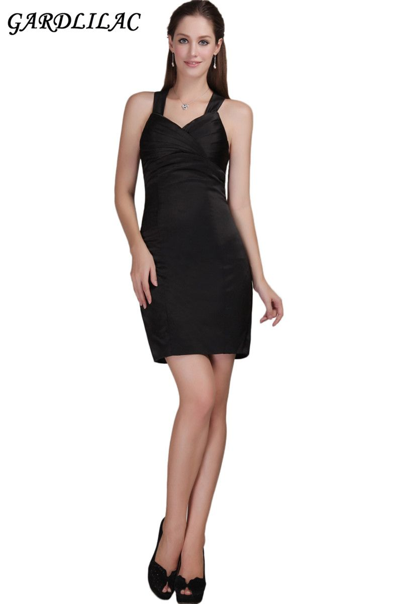 Click to buy ucuc real picture halter stain black cocktail