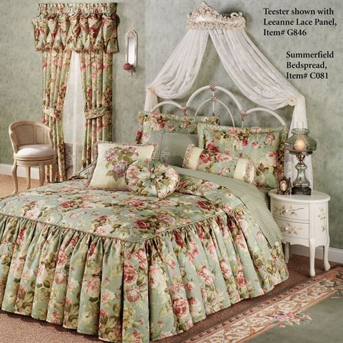 Victoria Rose Antique Ivory Wall Teester Bed Crown In 2019