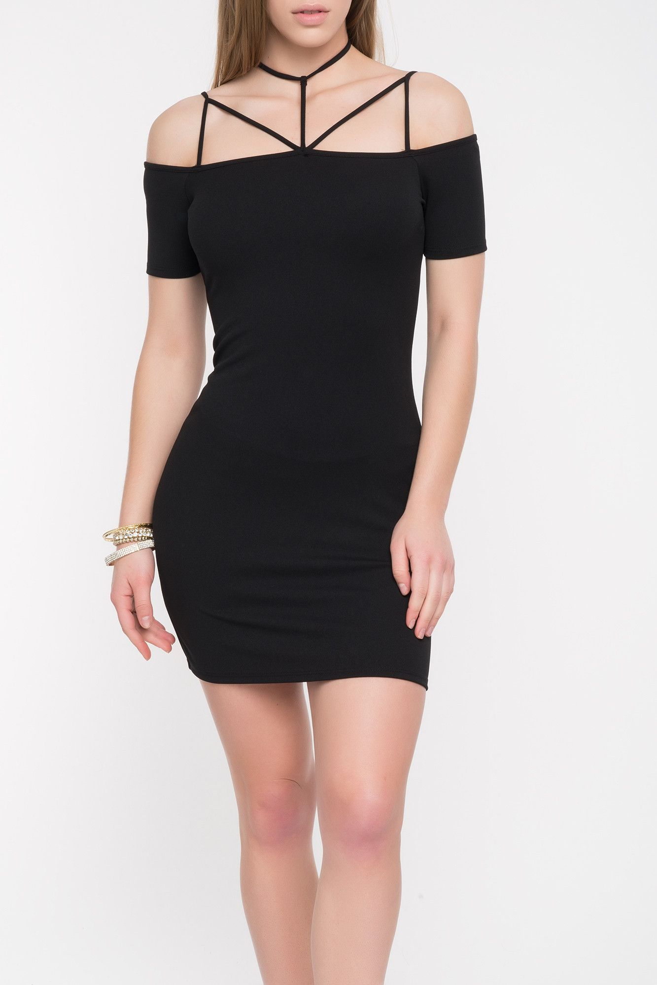 Strappy off the shoulder dress sale products pinterest