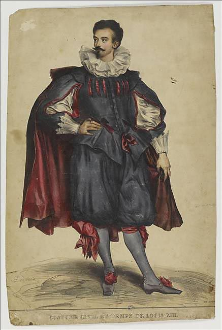 Civil costume in Louis XIII period