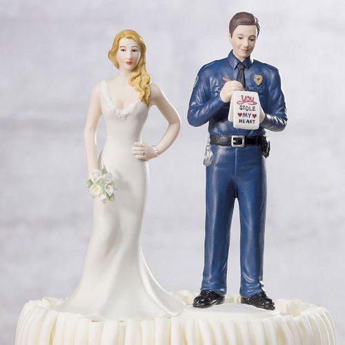 A Love Citation Policeman Wedding Cake Top