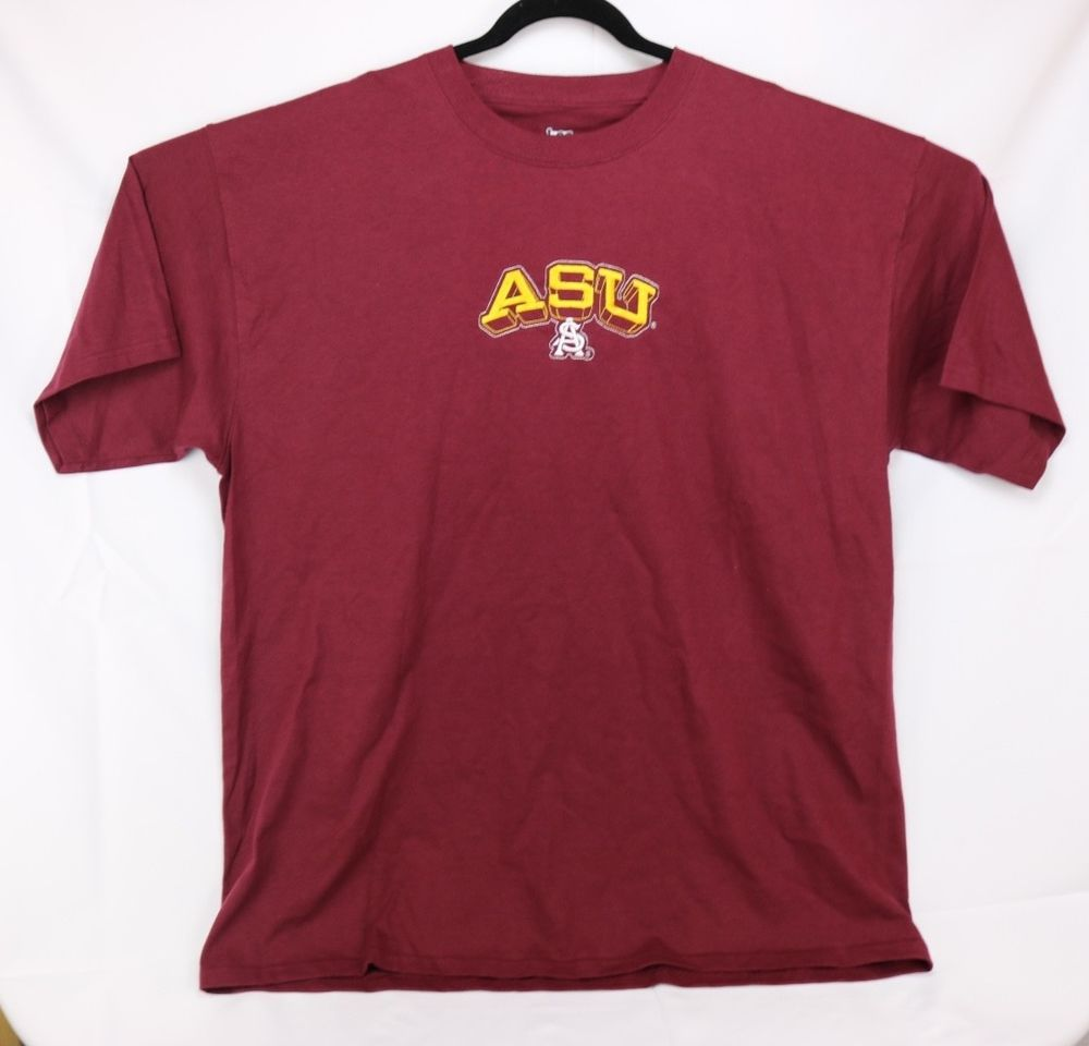 700b25e2e6 ASU Arizona State University T-Shirt Men's Size XXL Burgundy & Gold  Embroider #fashion #clothing #shoes #accessories #mensclothing #shirts  (ebay link)
