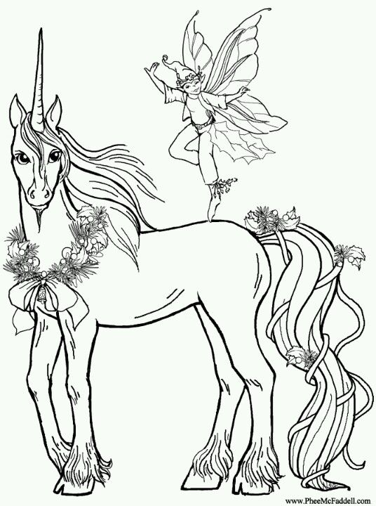 Phee Mcfaddell Artist Like This One Very Much Free Coloring Page Horse Coloring Pages Fairy Coloring Pages Horse Coloring