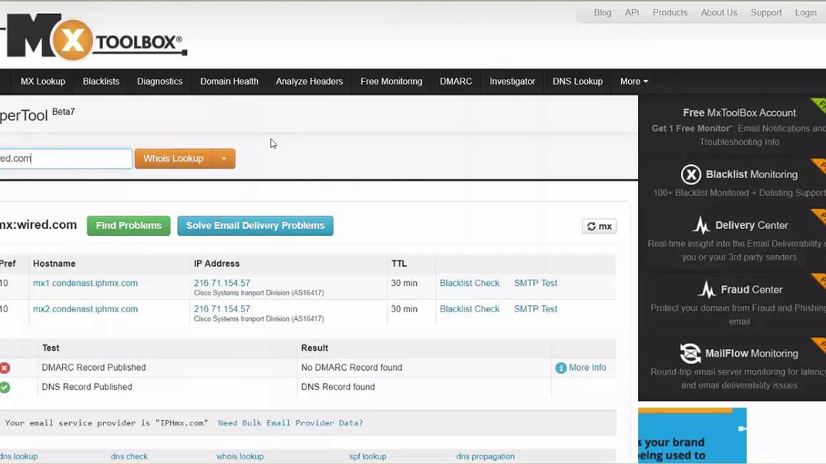 Domain Info Lookup Toolbox All Tools - Mxtoolbox com | SoLoMoBOX