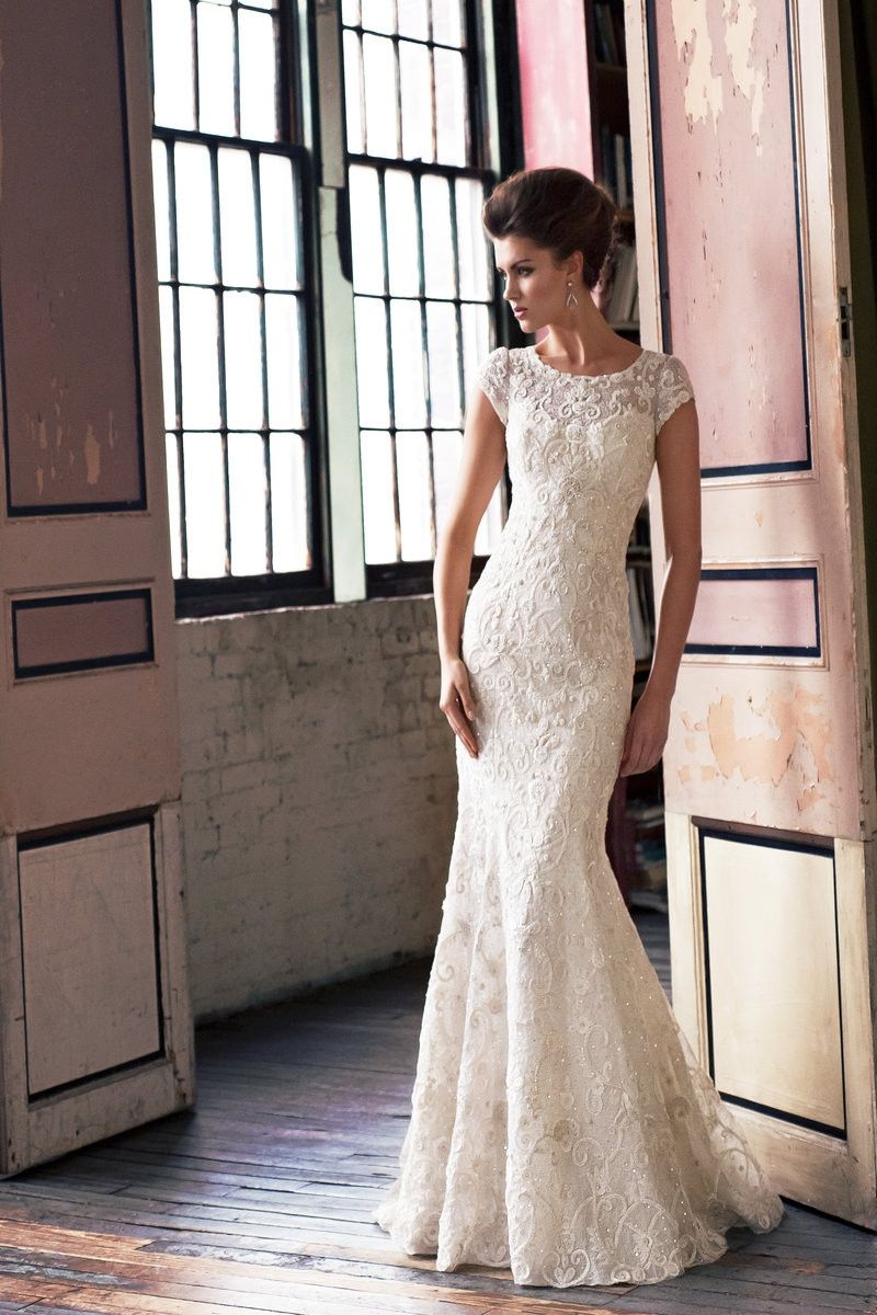 Wedding dress out of enaura bridal esstyle es fit and flare