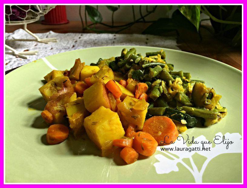 2 deliciosas guarniciones de verduras con especias y hierbas aromáticas