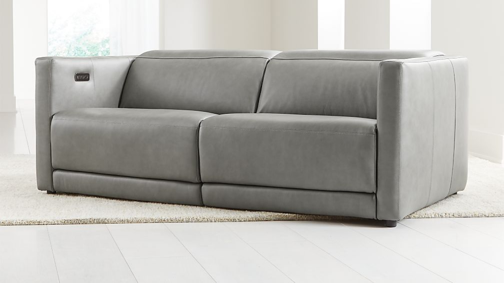 Russo Leather Power Reclining Sofa Crate And Barrel In 2020 Living Room Sofa Living Room Sofa Design Reclining Sofa
