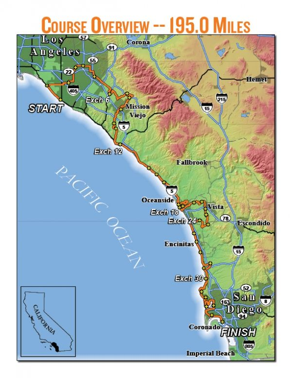 Ragnar Relay So Cal Overview Map April 4-5, 2014