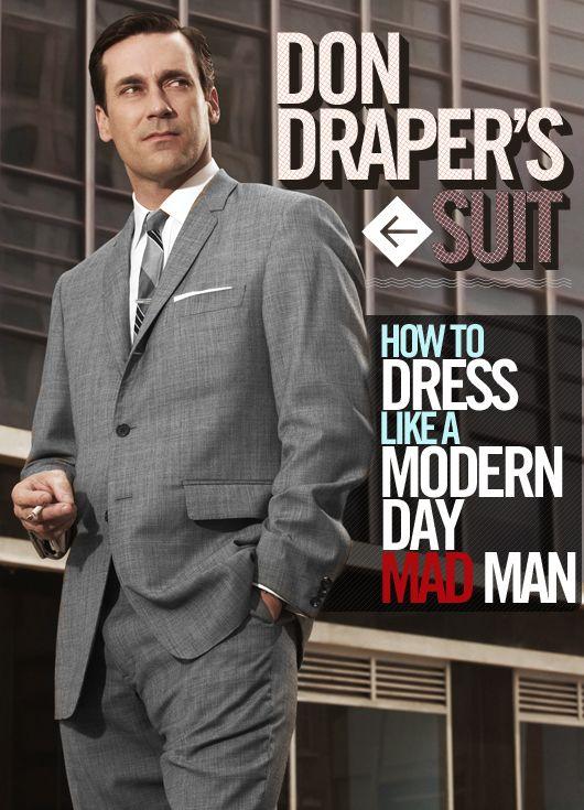 af2b6107166 Don Draper's Suit | Men's Fashion | Mad men fashion, Mad men, Don draper