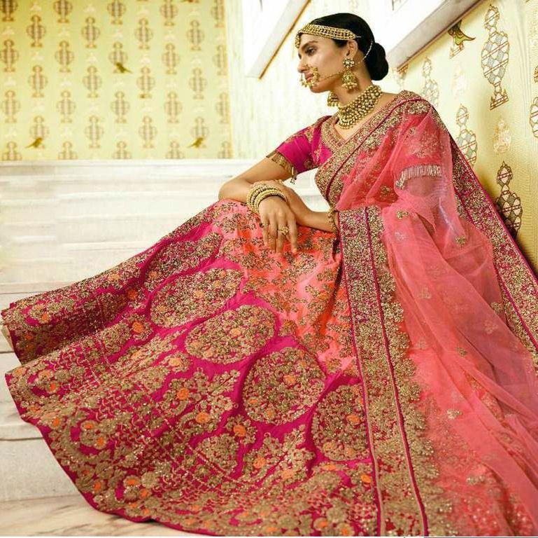 Pink Bridal Lehenga #bridalportraitposes