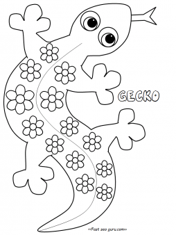 Free Gecko Coloring Pages Printable For KidsPrint Out Tattoo Designs FreePrintable