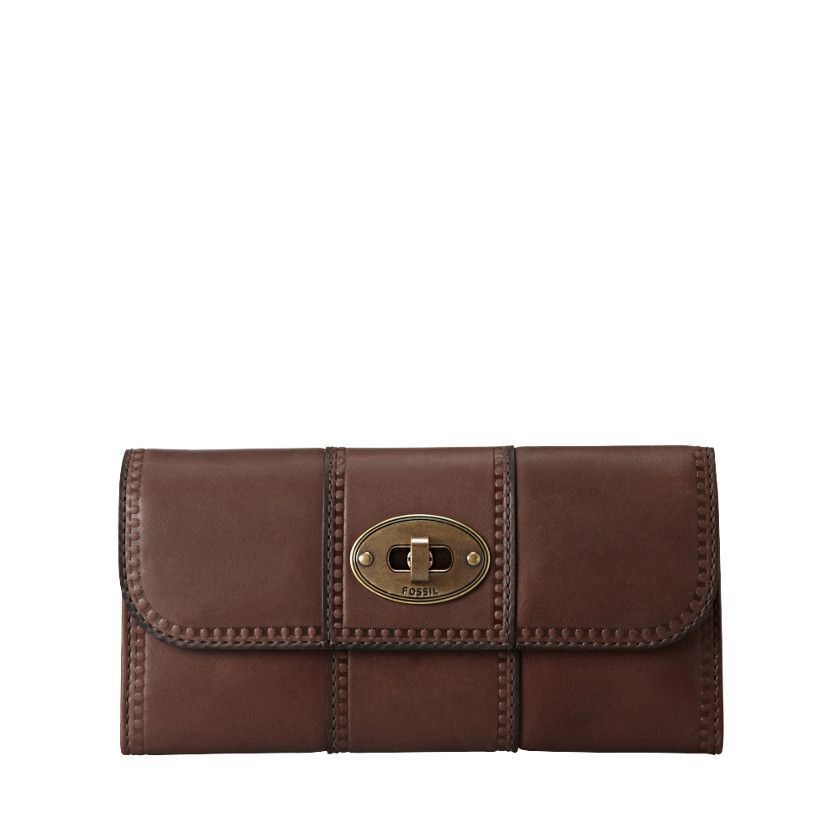 28b903922643a FOSSIL® Wallets Checkbook Wallets Wallets Vintage Revival Flap Clutch SL3976