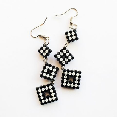 Earrings hama mini beads by hicelina