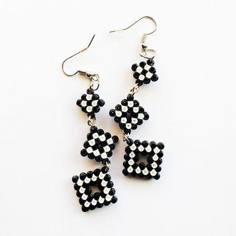 Earrings hama mini beads by hicelina