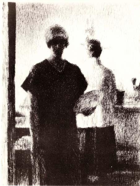 Г.С. Верейский. Силуэты женских фигур. 1928