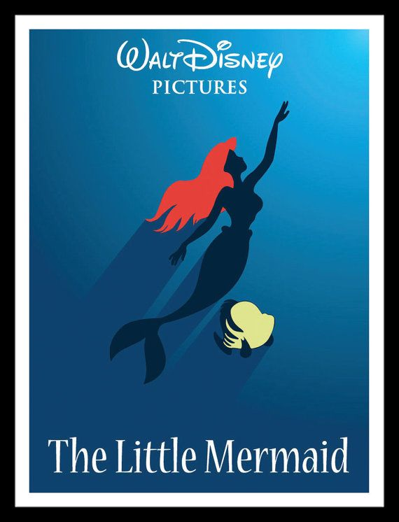 The Little Mermaid Movie Poster 11 x 17 Print by FADEGrafix, $17.95