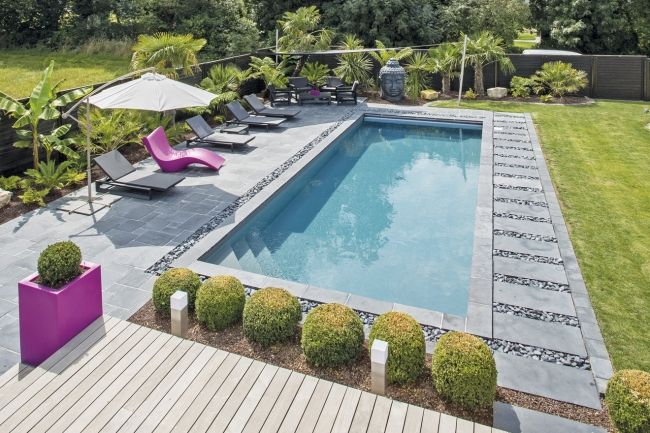 Pin by wittner martine on piscines paysages in 2019 piscine deco piscine am nagement - Deco autour piscine ...