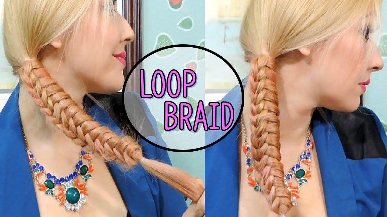 Como Hacer Una Trenza moda 2016  Peinado Facil  Loop Braid trenza cobra - YouTube