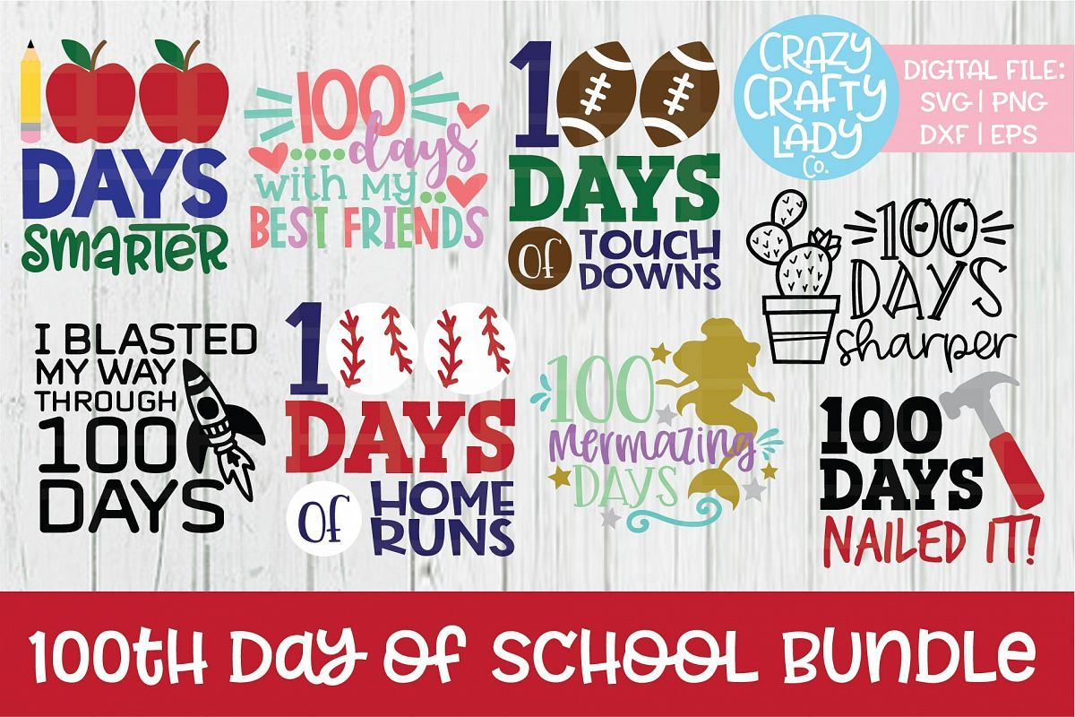 Pin On 100th Day Of School Svg Cut Files