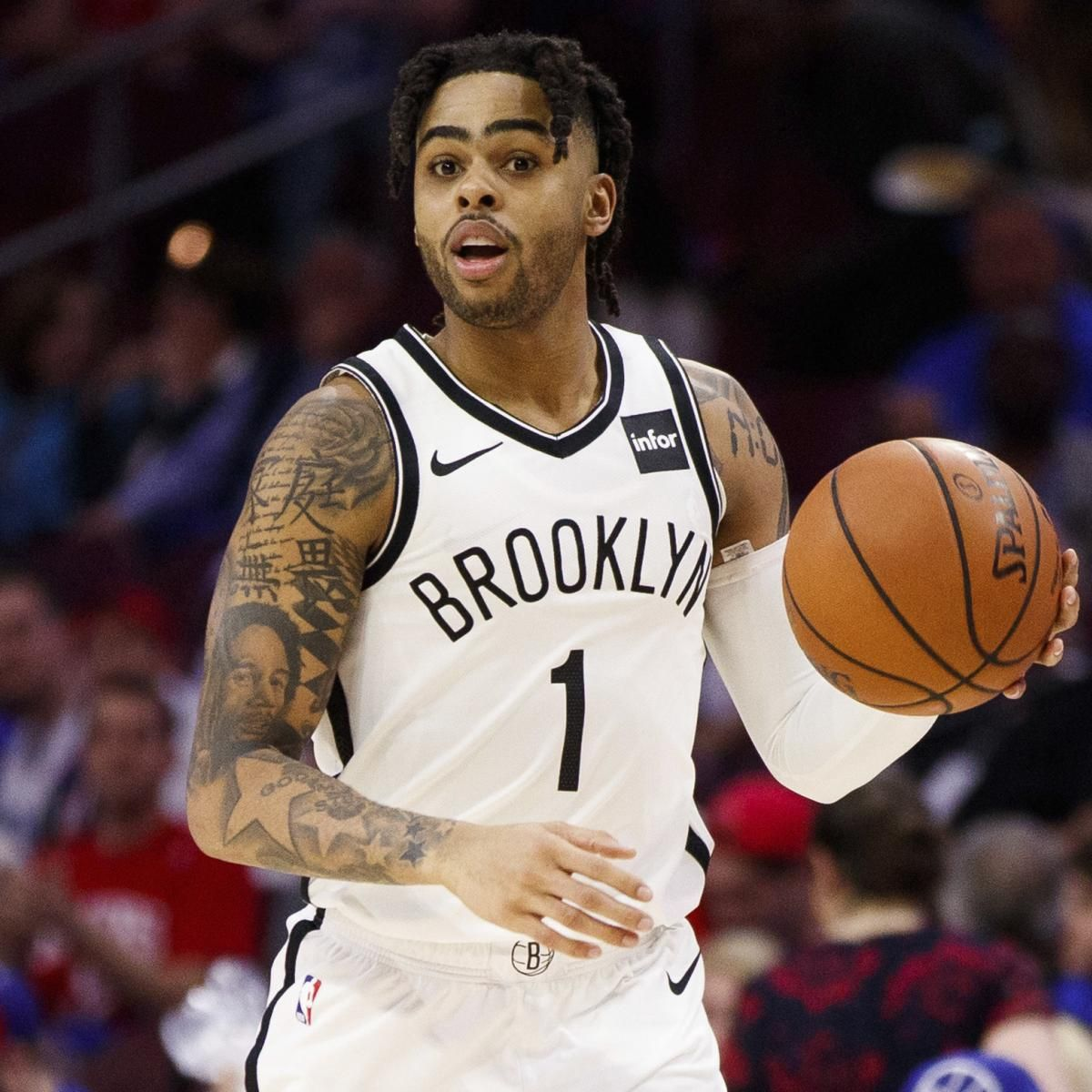 D Angelo Russell Definitely Hopes To Sign New Nets Contract In Free Agency Black Legends Basketball Fine Men