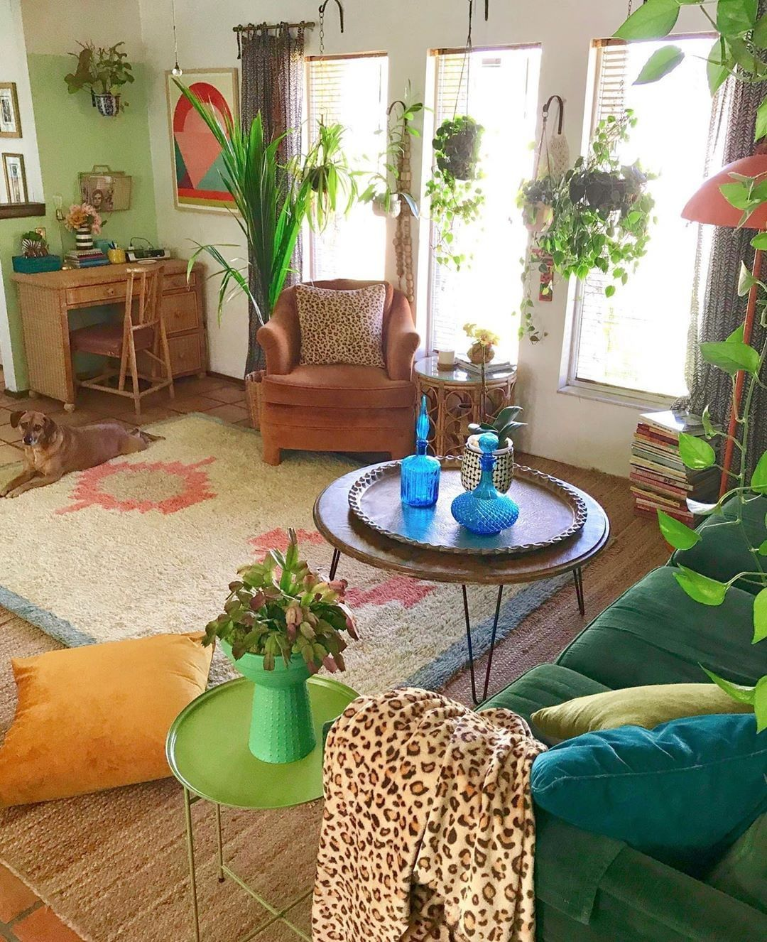 Fy On Instagram Green Glazed Via Lillithortiz Shop The Look By Fo Bohemian Style Living Room Living Room Decor Apartment Bohemian Interior Design