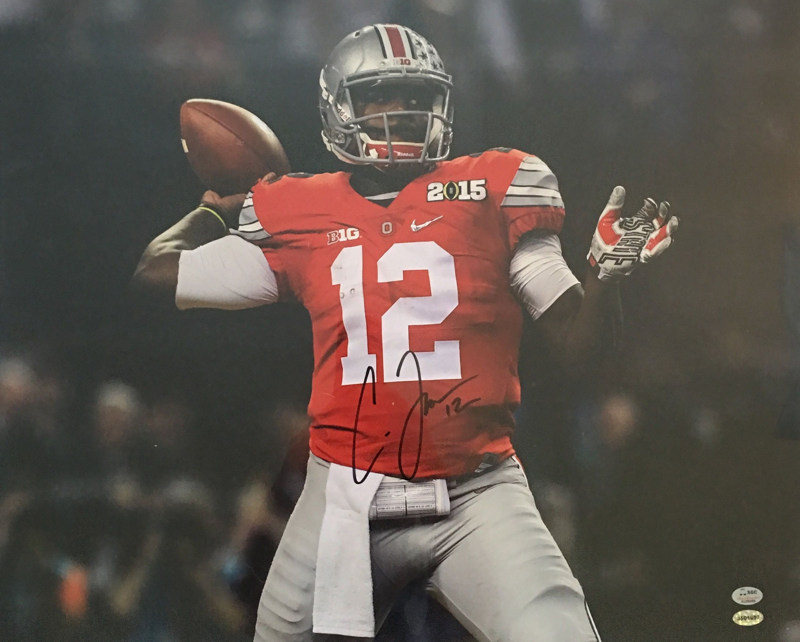 online retailer 762e2 a6652 Cardale Jones Ohio State Buckeyes Signed 16x20 BCS ...
