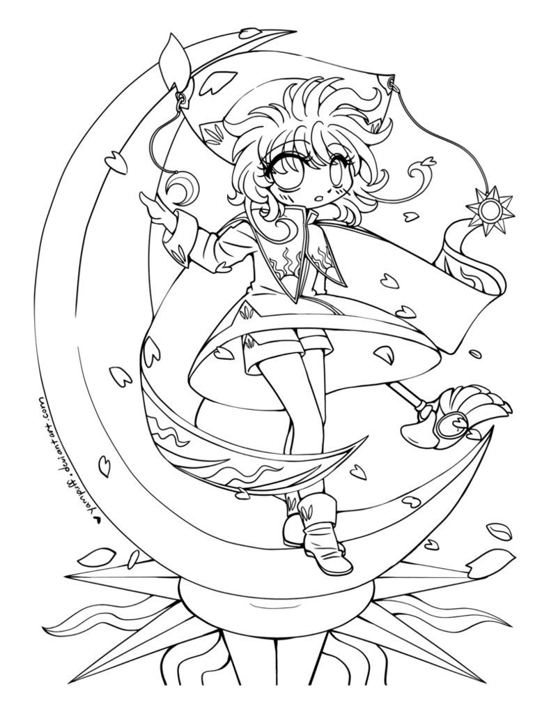 find this pin and more on anti stress colouring pages cardcaptor sakura - Cardcaptor Sakura Coloring Pages