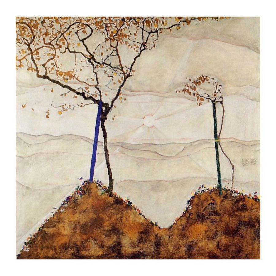 Egon Schiele Quatre Arbres FINE ART PRINT Gustav Klimt Poster Toile Van Gogh