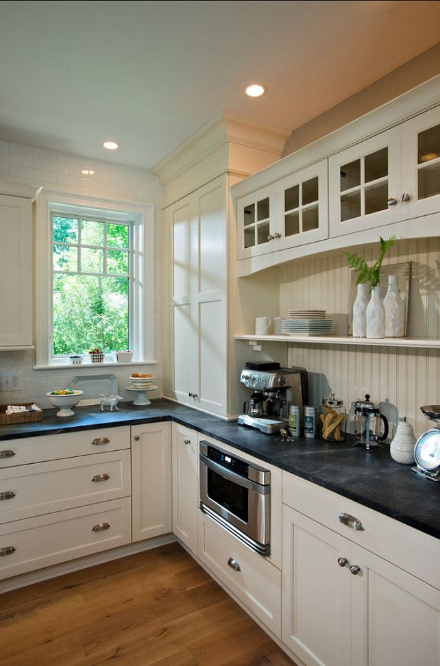 Kitchen Countertop Is Honed Gray #soapstone. #Kitchen