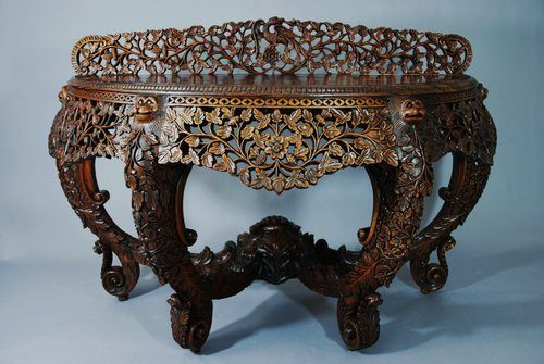 Anglo Indian Carved Rosewood Console Table - Antiques Atlas - Anglo Indian Carved Rosewood Console Table - Antiques Atlas