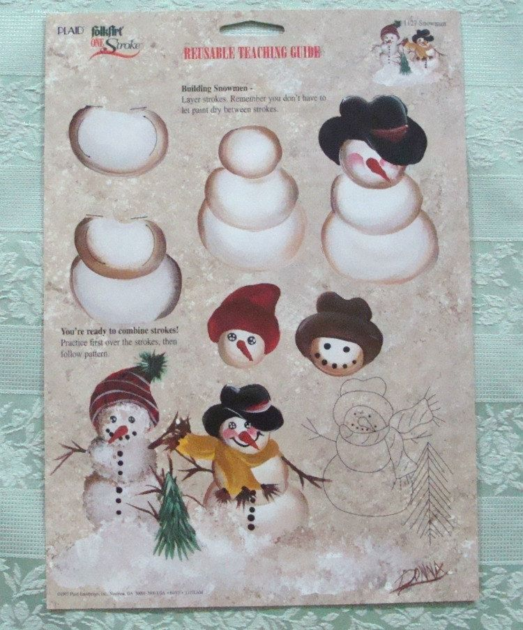 One Stroke Reusable Christmas Teaching Guides by ClaudiasCrafts39 #tolepainting