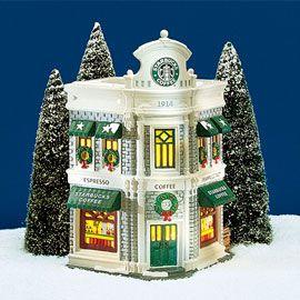 dept 56 snow village starbucks lego pinterest. Black Bedroom Furniture Sets. Home Design Ideas