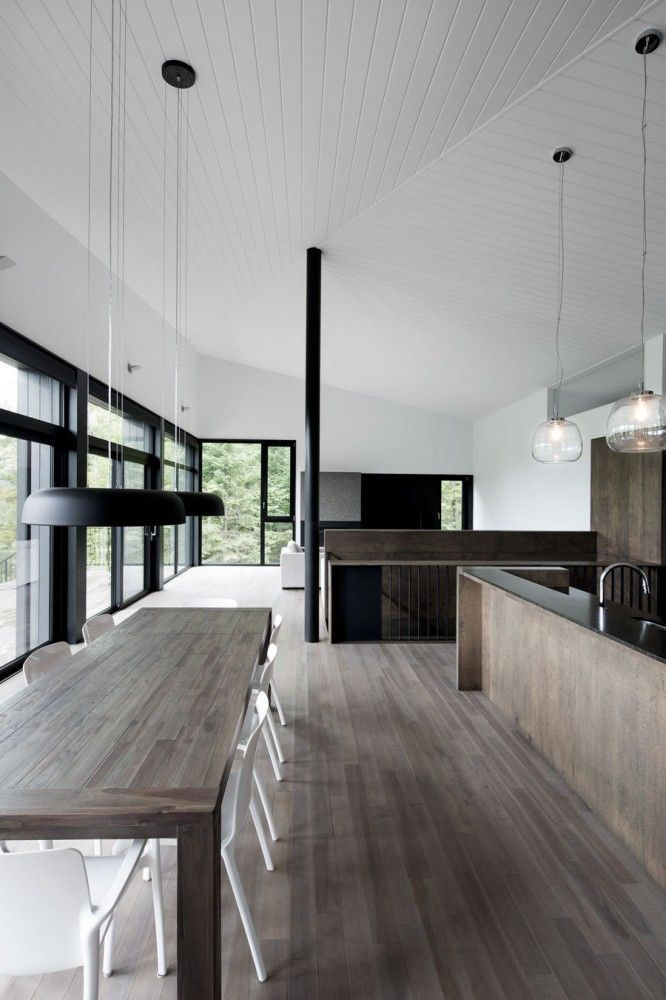 Kitchen And Living Room Interior Design: Minimal Kitchen And Dining